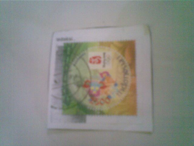 kliping dari perangko bekas