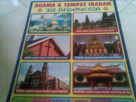 Contoh poster agama agama di indonesia