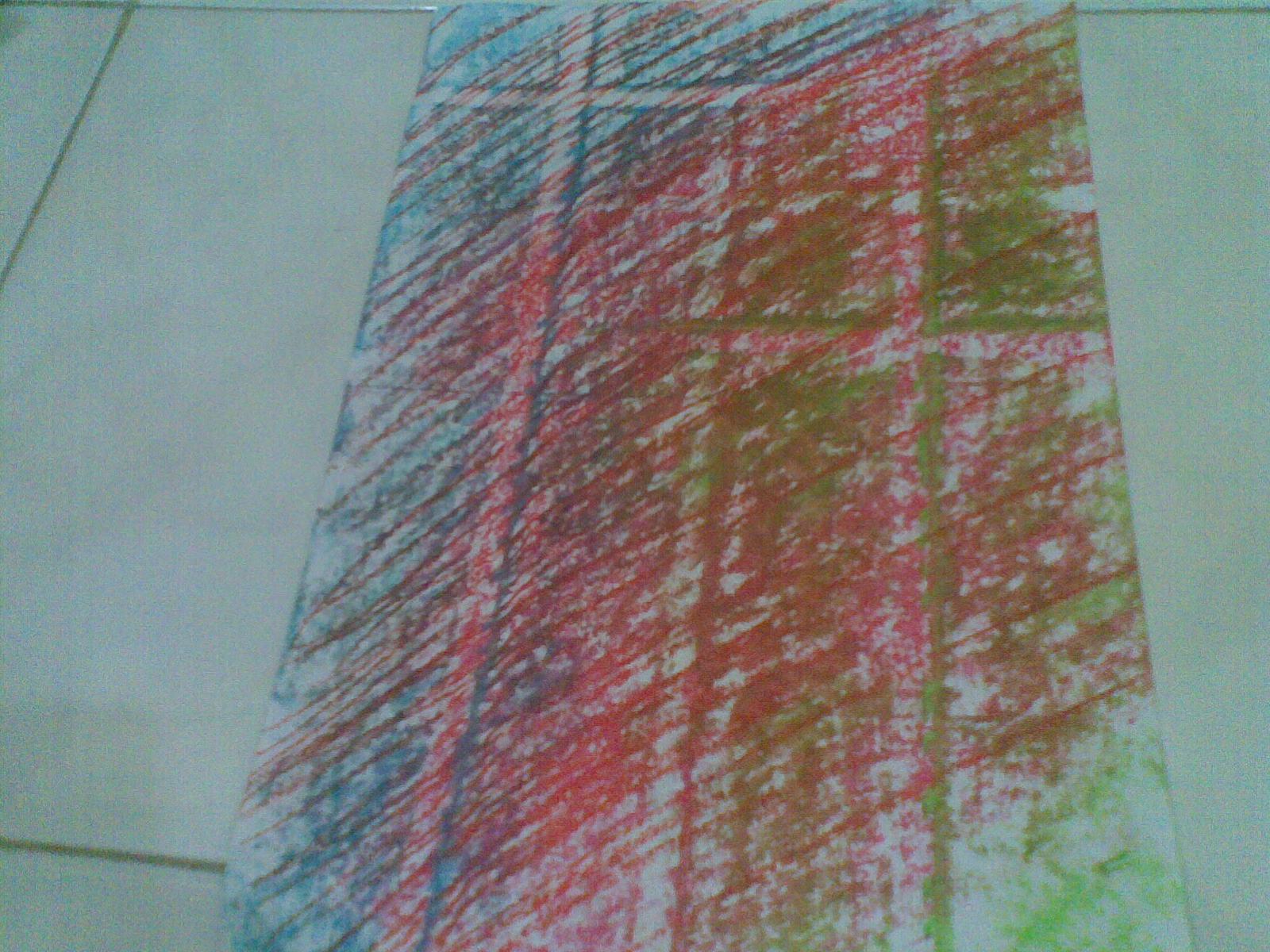 ... salib dengan menggeser kertas dan menimpa warna satu sama lain