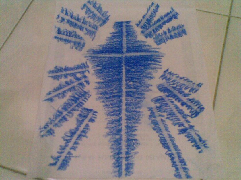 Membuat sinar pancaran dengan cara memutar kertas