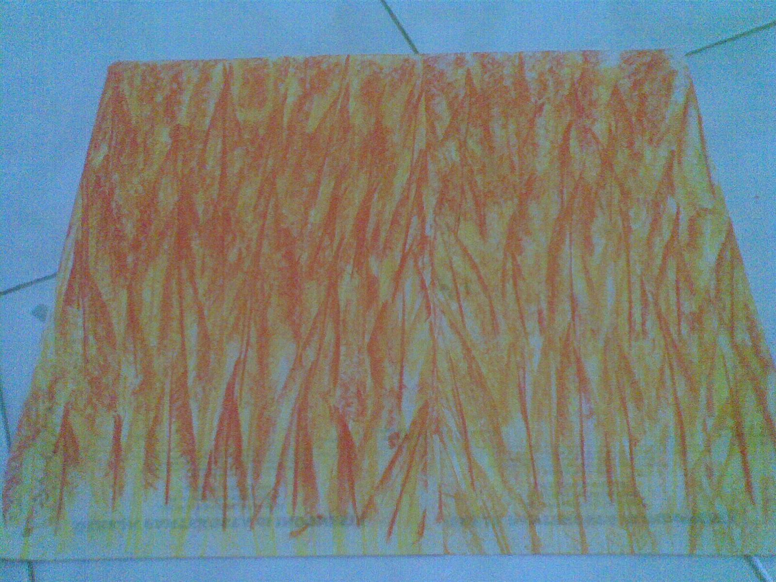 Dua lembar kertas kobaran api yg didekatkan