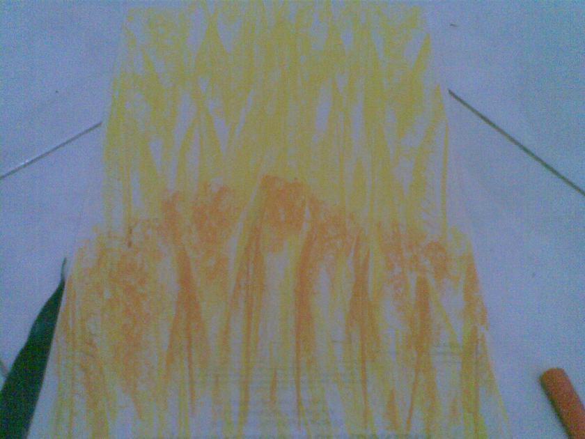 Ubah posisi daun dan ulangi dr bawah untk warna ke dua