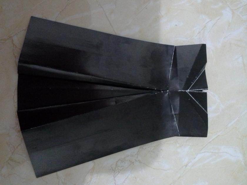 21. buka lipatan segitiga kanan kiri