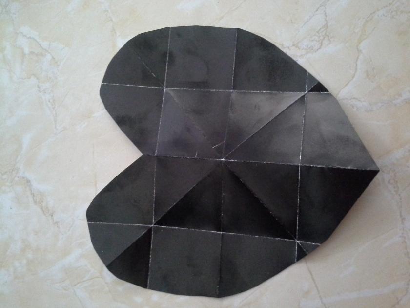 Setelah digunting bentuknya seperti ini