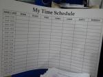 ini contoh board my time schedule, yang dicetak rapi ...wauuu