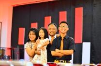 Bersama suami saya, dan Ananda sulung kami; Ardito Kenanya Hudson Widiono, dan Ananda tengah kami, Melody Harvest Elnerd Widiono.
